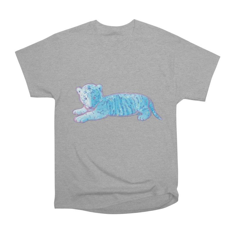 Little Blue Tiger Cub Women's Heavyweight Unisex T-Shirt by VanillaKirsty's Artist Shop