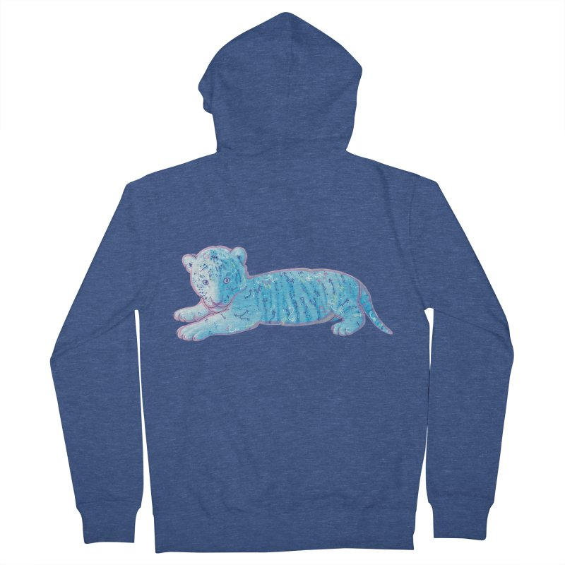 Little Blue Tiger Cub Women's Zip-Up Hoody by VanillaKirsty's Artist Shop