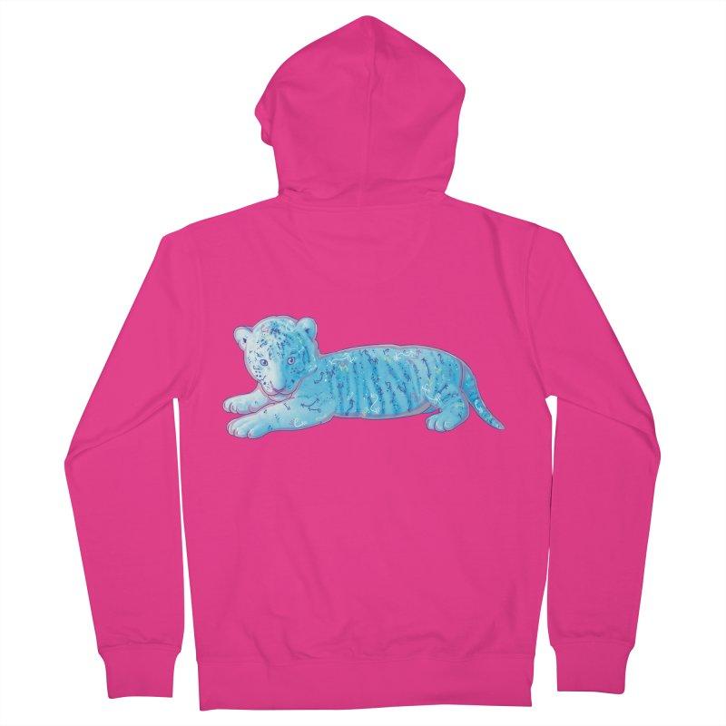 Little Blue Tiger Cub Men's Zip-Up Hoody by VanillaKirsty's Artist Shop