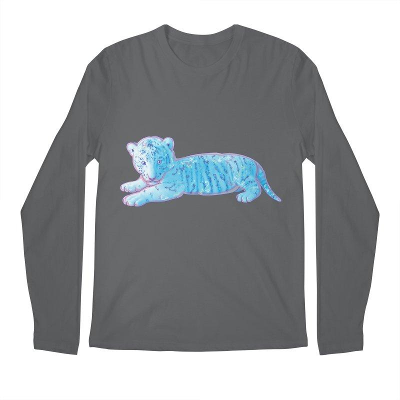 Little Blue Tiger Cub Men's Longsleeve T-Shirt by VanillaKirsty's Artist Shop