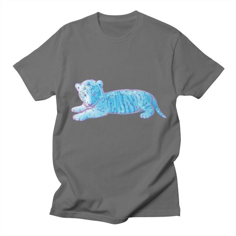 Little Blue Tiger Cub Men's T-Shirt by VanillaKirsty's Artist Shop