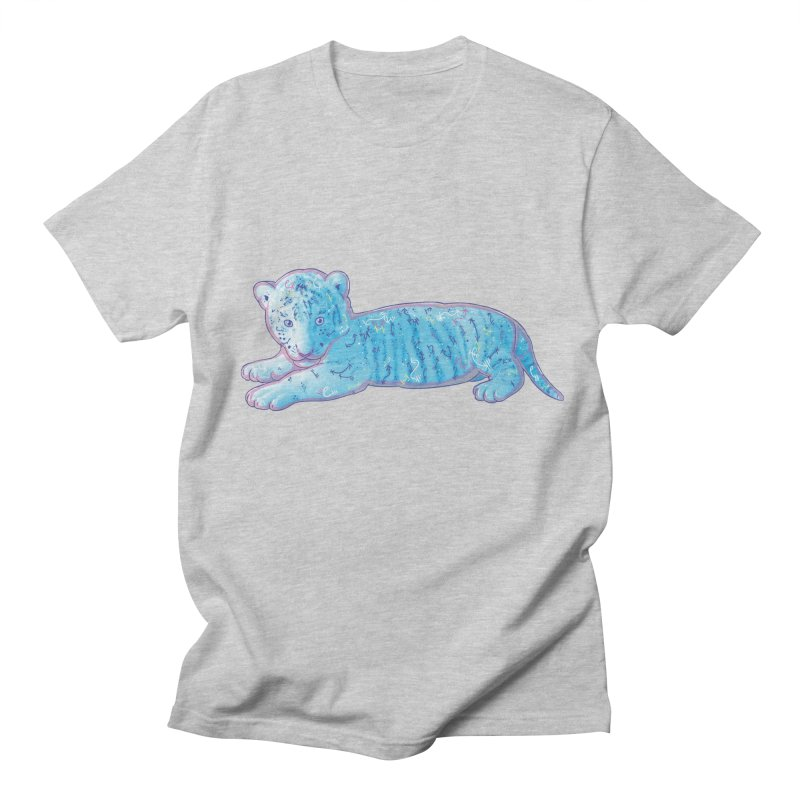 Little Blue Tiger Cub Men's T-Shirt by VanillaKirsty's Artist Shop