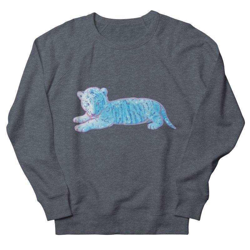 Little Blue Tiger Cub Men's Sweatshirt by VanillaKirsty's Artist Shop