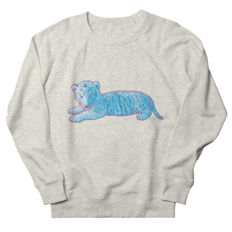 Little Blue Tiger Cub Men's Sweatshirt by VanillaKirsty's Artist Shop