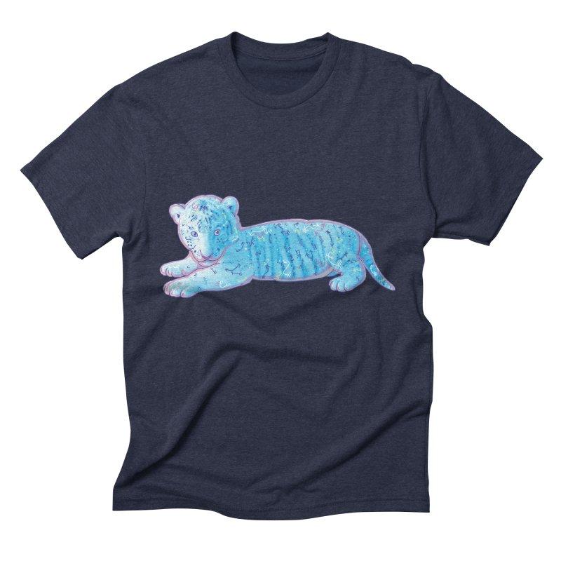 Little Blue Tiger Cub Men's Triblend T-Shirt by VanillaKirsty's Artist Shop