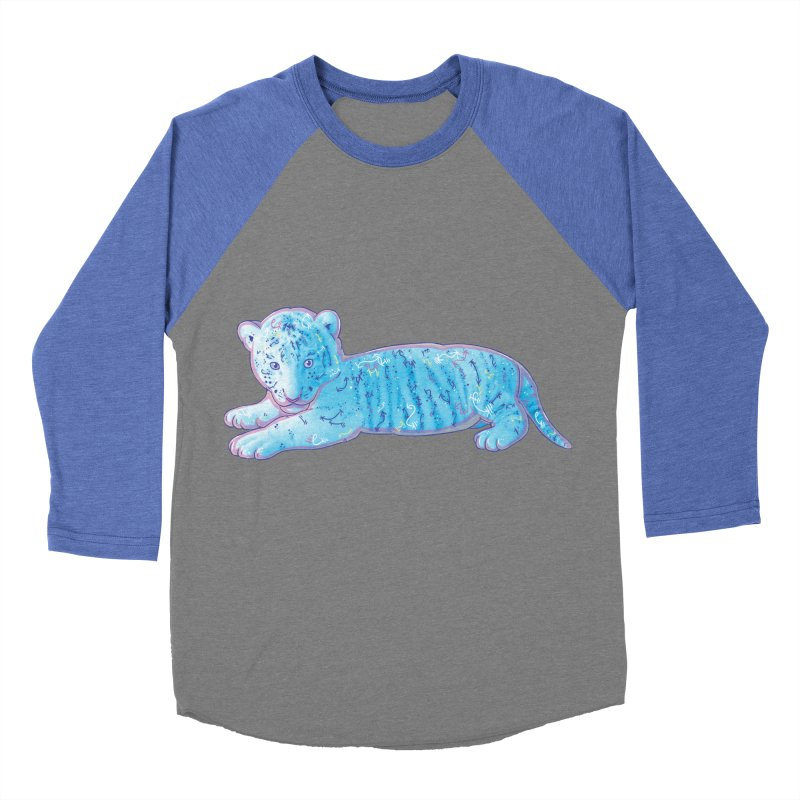 Little Blue Tiger Cub Women's Baseball Triblend T-Shirt by VanillaKirsty's Artist Shop