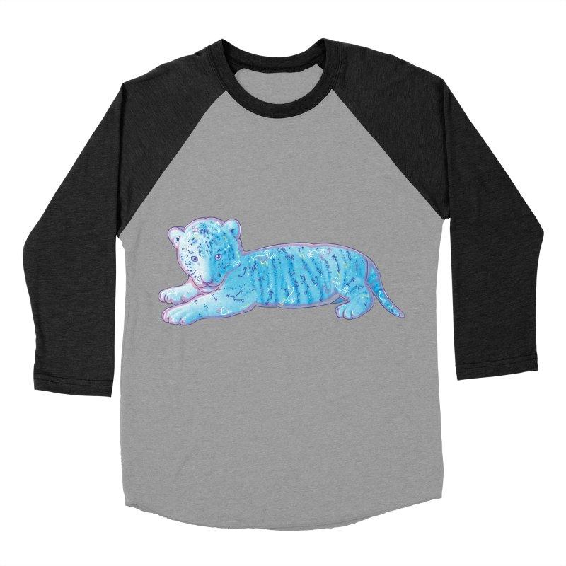 Little Blue Tiger Cub Women's Baseball Triblend T-Shirt by VanillaKirsty's Artist Shop