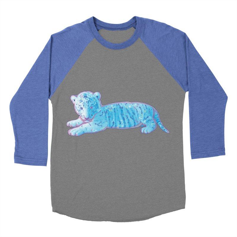 Little Blue Tiger Cub Men's Baseball Triblend T-Shirt by VanillaKirsty's Artist Shop