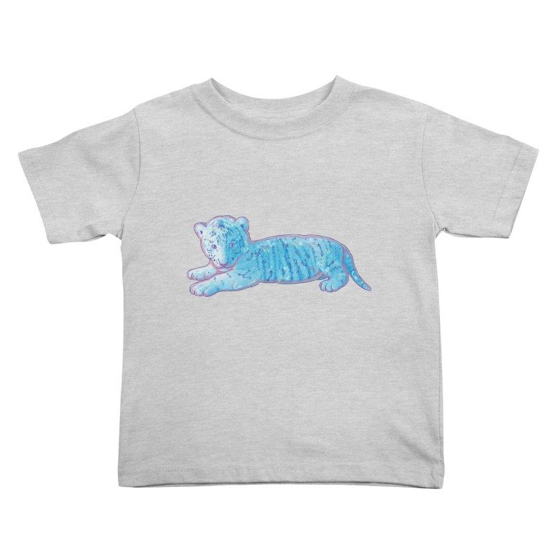 Little Blue Tiger Cub Kids Toddler T-Shirt by VanillaKirsty's Artist Shop