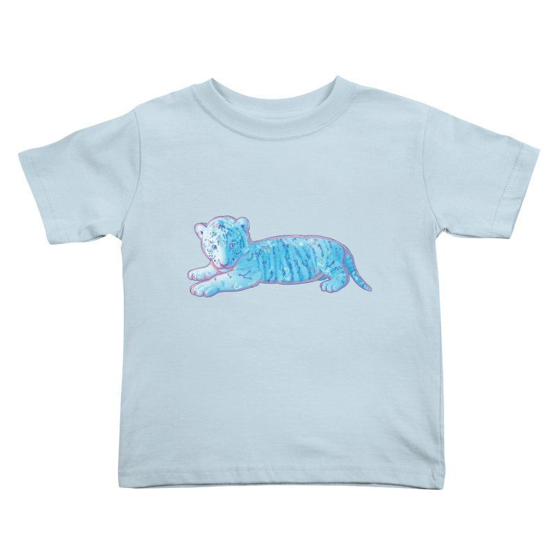 Little Blue Tiger Cub Kids Toddler T-Shirt by VanillaKirsty's Artist Shop