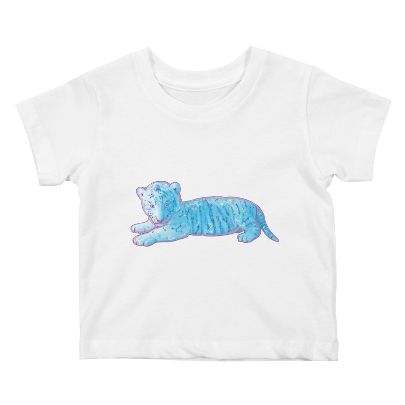 Little Blue Tiger Cub Kids Baby T-Shirt by VanillaKirsty's Artist Shop