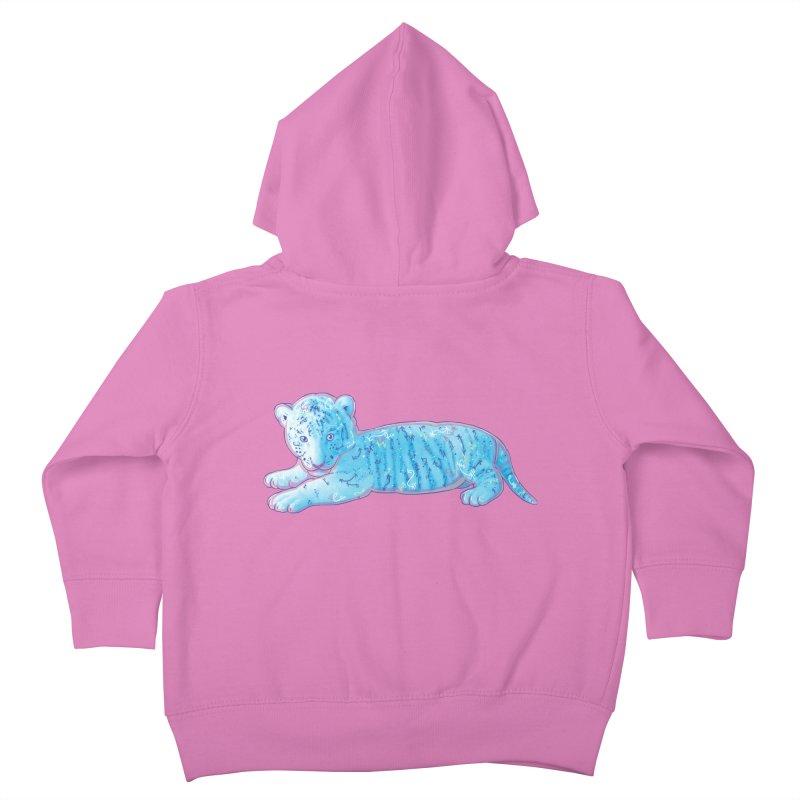Little Blue Tiger Cub Kids Toddler Zip-Up Hoody by VanillaKirsty's Artist Shop