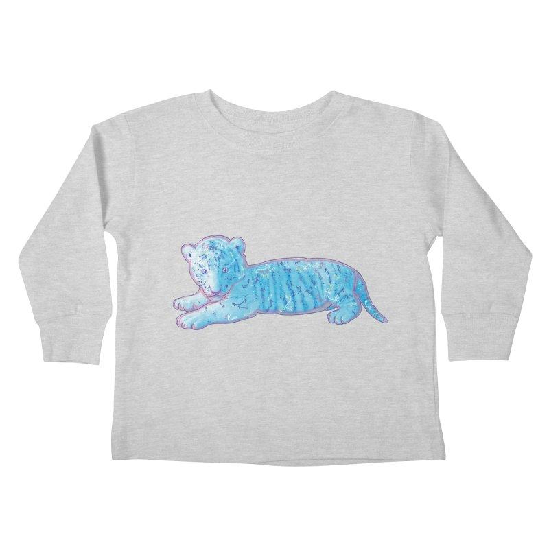 Little Blue Tiger Cub Kids Toddler Longsleeve T-Shirt by VanillaKirsty's Artist Shop