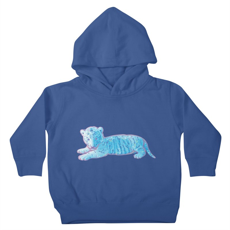 Little Blue Tiger Cub Kids Toddler Pullover Hoody by VanillaKirsty's Artist Shop