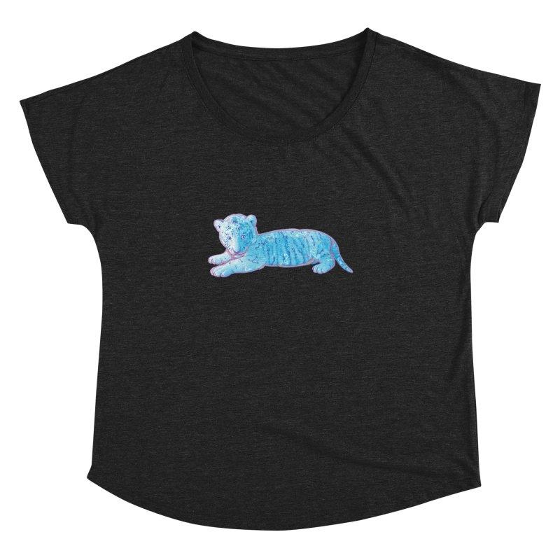 Little Blue Tiger Cub Women's Dolman by VanillaKirsty's Artist Shop