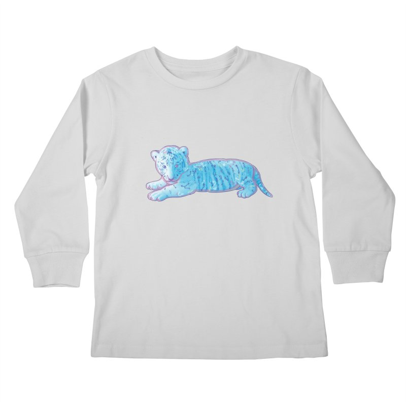 Little Blue Tiger Cub Kids Longsleeve T-Shirt by VanillaKirsty's Artist Shop