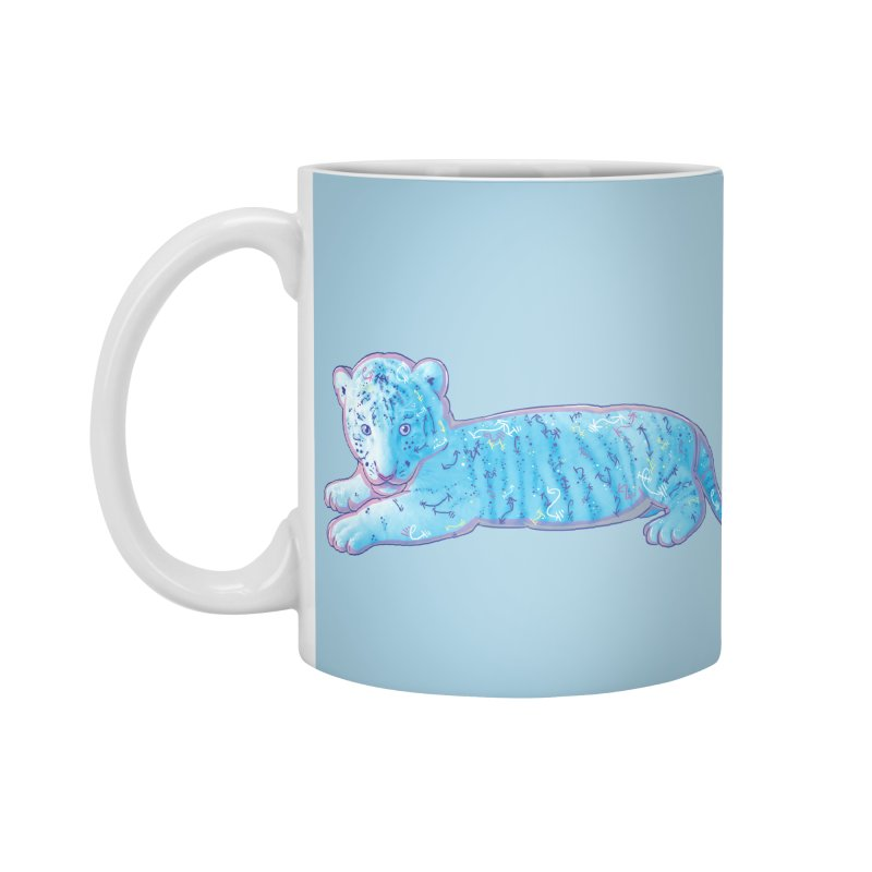 Little Blue Tiger Cub Accessories Mug by VanillaKirsty's Artist Shop