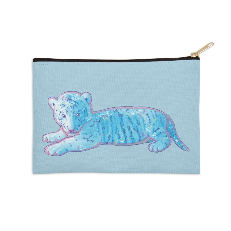 Little Blue Tiger Cub Accessories Zip Pouch by VanillaKirsty's Artist Shop