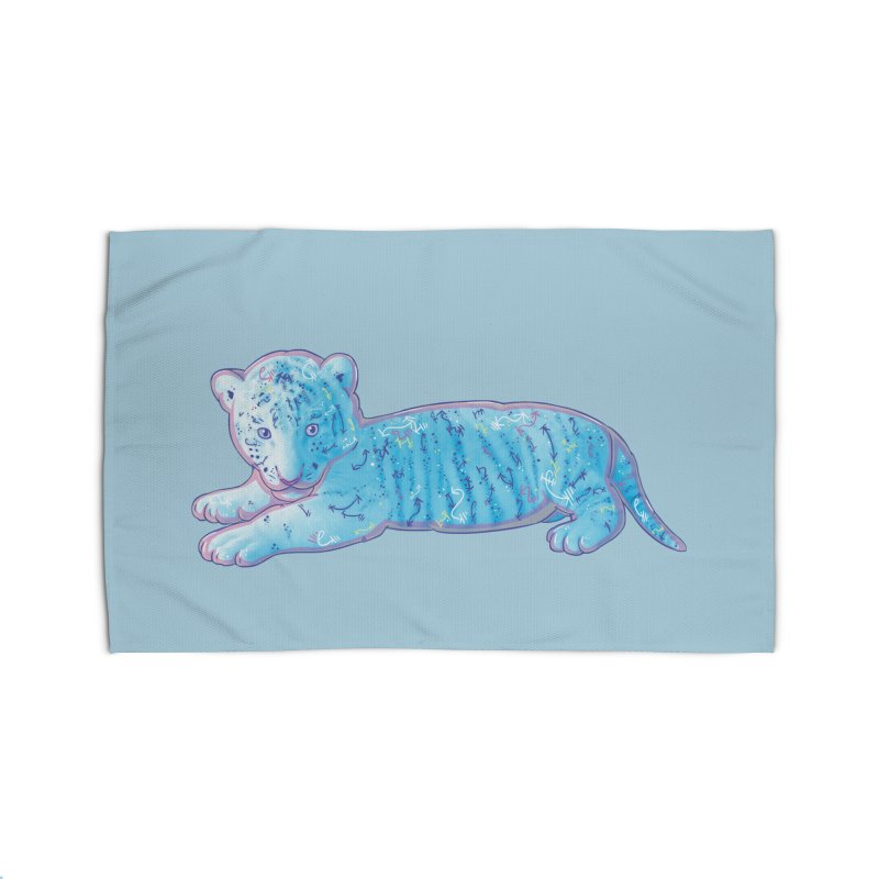 Little Blue Tiger Cub Home Rug by VanillaKirsty's Artist Shop