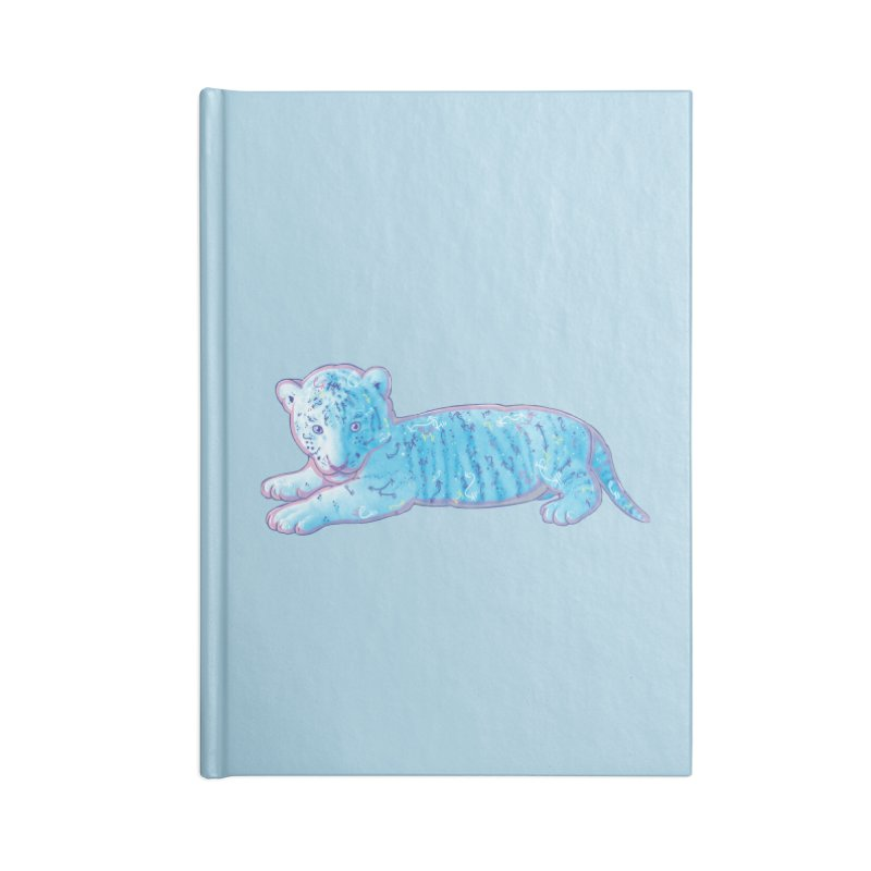Little Blue Tiger Cub Accessories Notebook by VanillaKirsty's Artist Shop