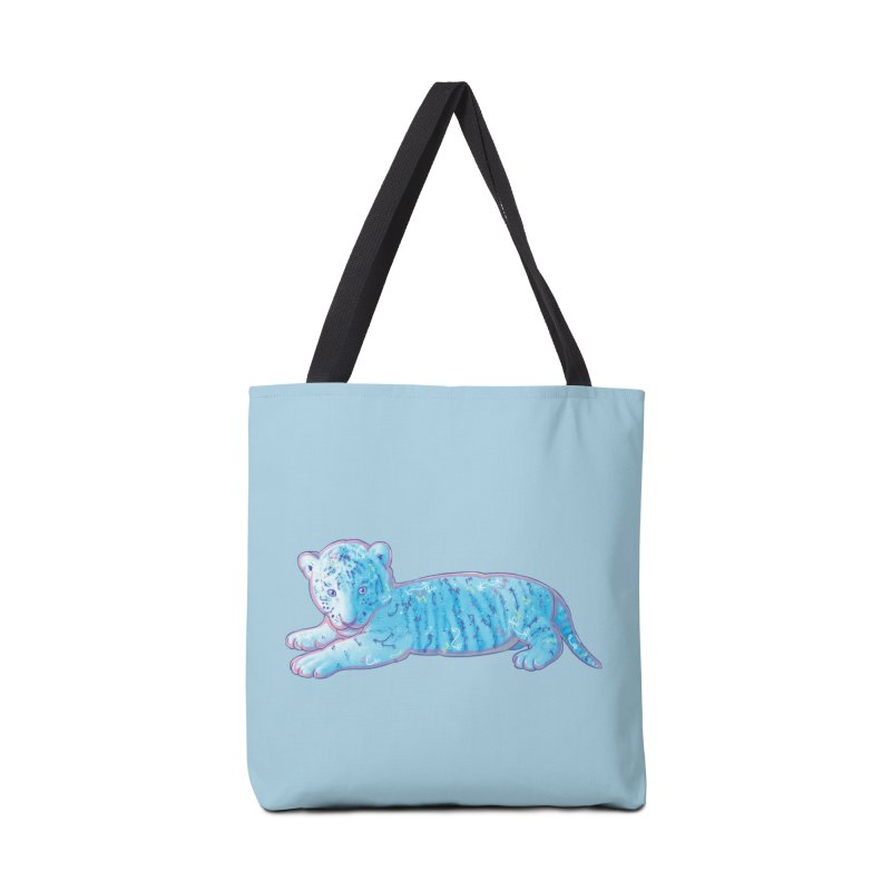 Little Blue Tiger Cub Accessories Bag by VanillaKirsty's Artist Shop