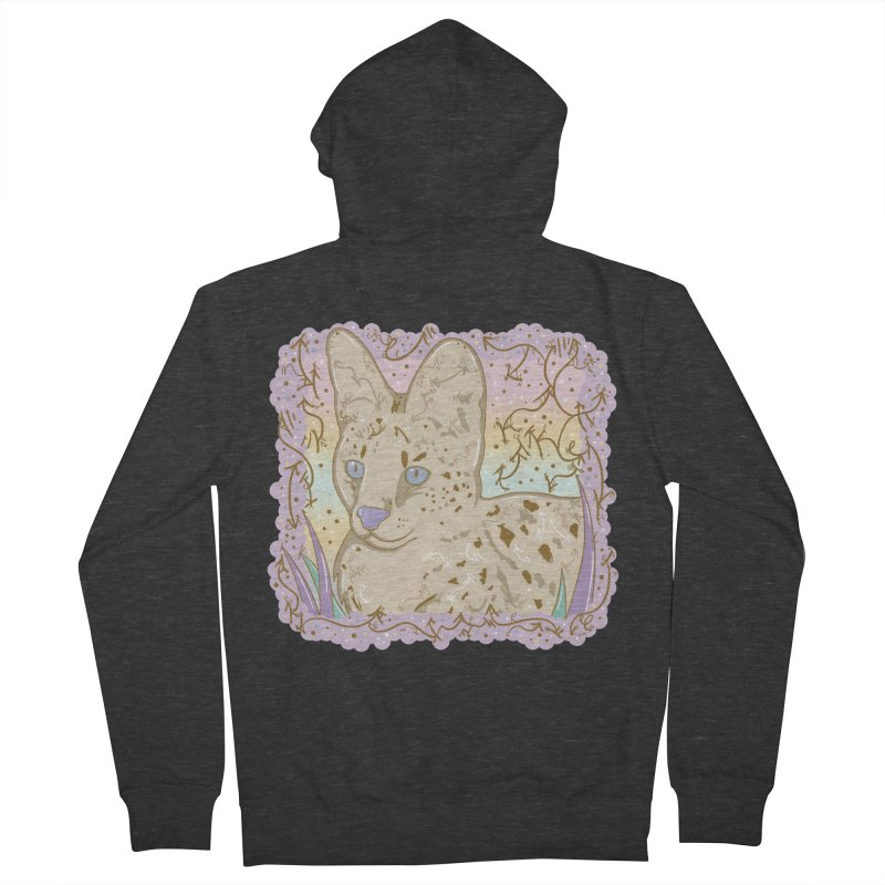 Little Serval Women's Zip-Up Hoody by VanillaKirsty's Artist Shop