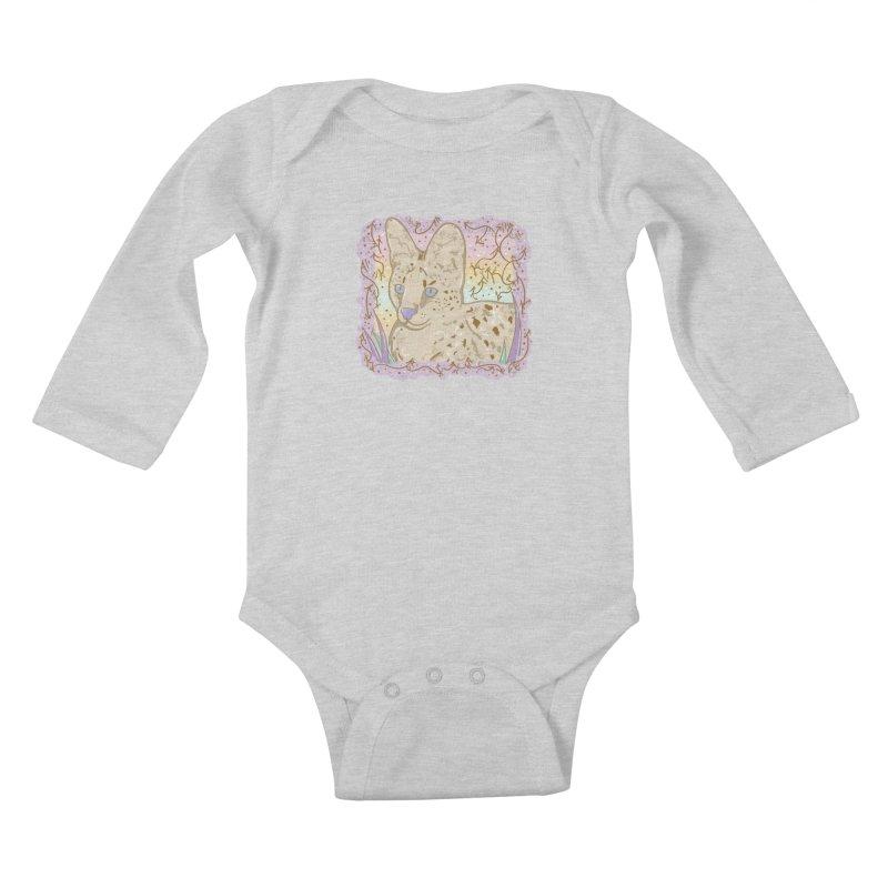 Little Serval Kids Baby Longsleeve Bodysuit by VanillaKirsty's Artist Shop