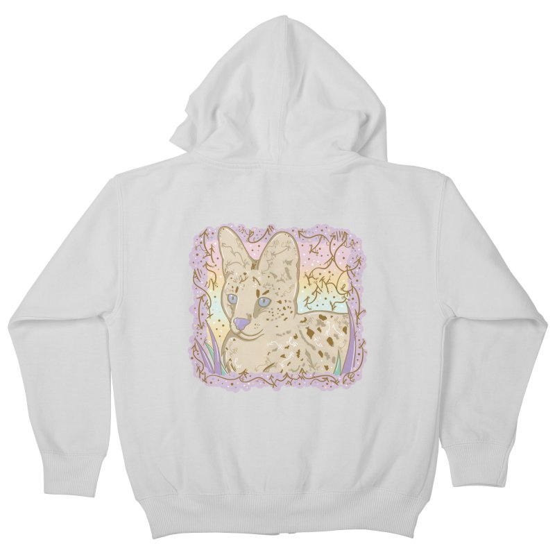 Little Serval Kids Zip-Up Hoody by VanillaKirsty's Artist Shop