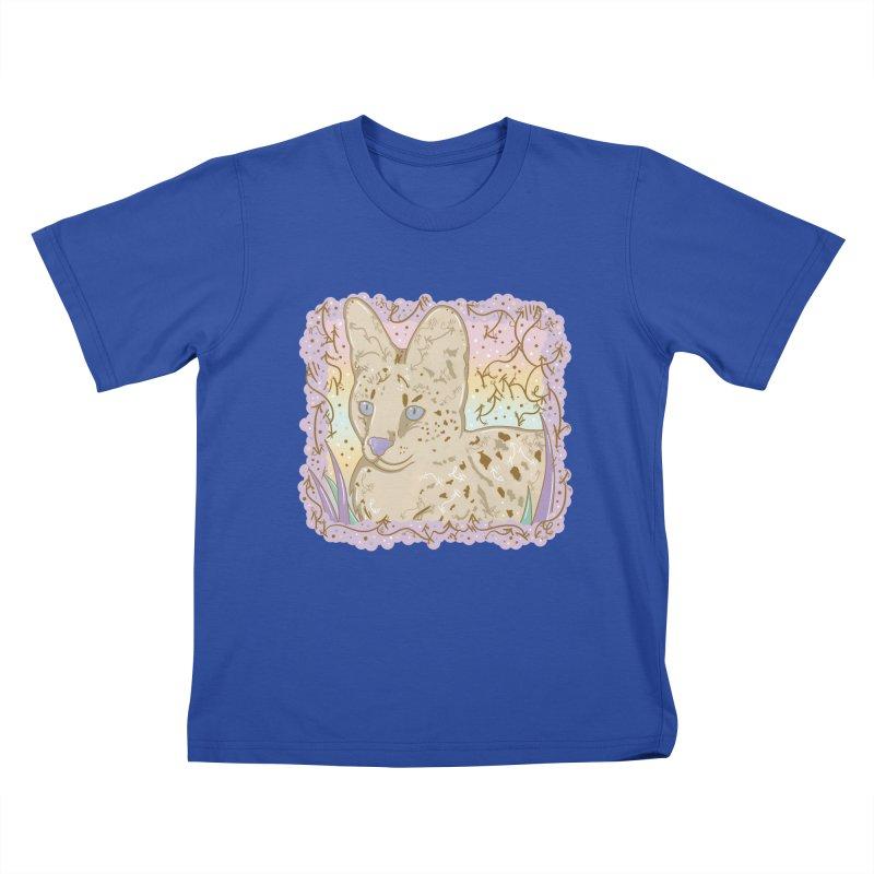 Little Serval Kids T-Shirt by VanillaKirsty's Artist Shop