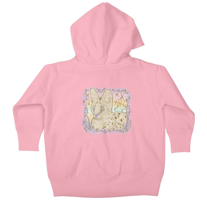 Little Serval Kids Baby Zip-Up Hoody by VanillaKirsty's Artist Shop