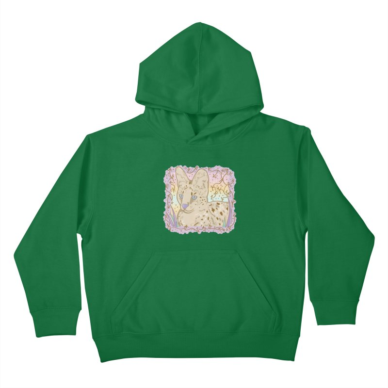 Little Serval Kids Pullover Hoody by VanillaKirsty's Artist Shop