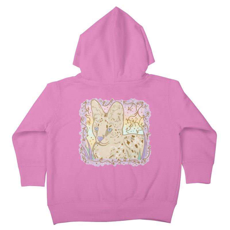 Little Serval Kids Toddler Zip-Up Hoody by VanillaKirsty's Artist Shop