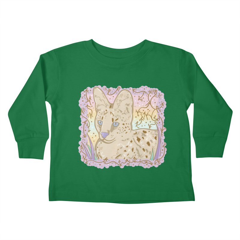 Little Serval Kids Toddler Longsleeve T-Shirt by VanillaKirsty's Artist Shop