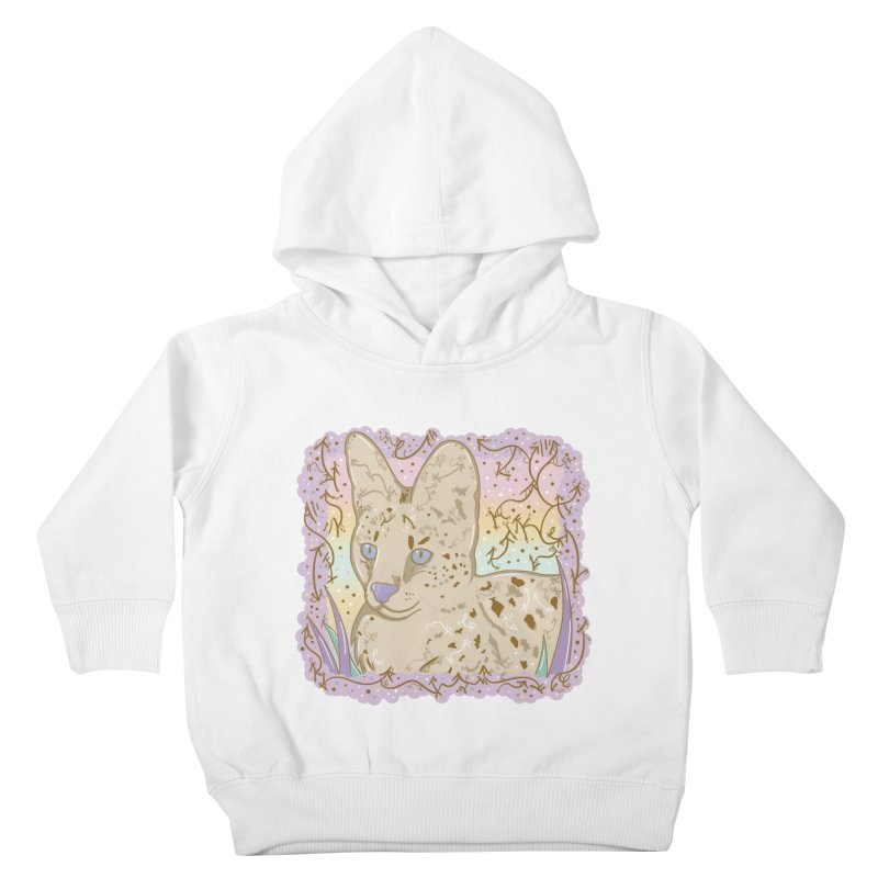 Little Serval Kids Toddler Pullover Hoody by VanillaKirsty's Artist Shop