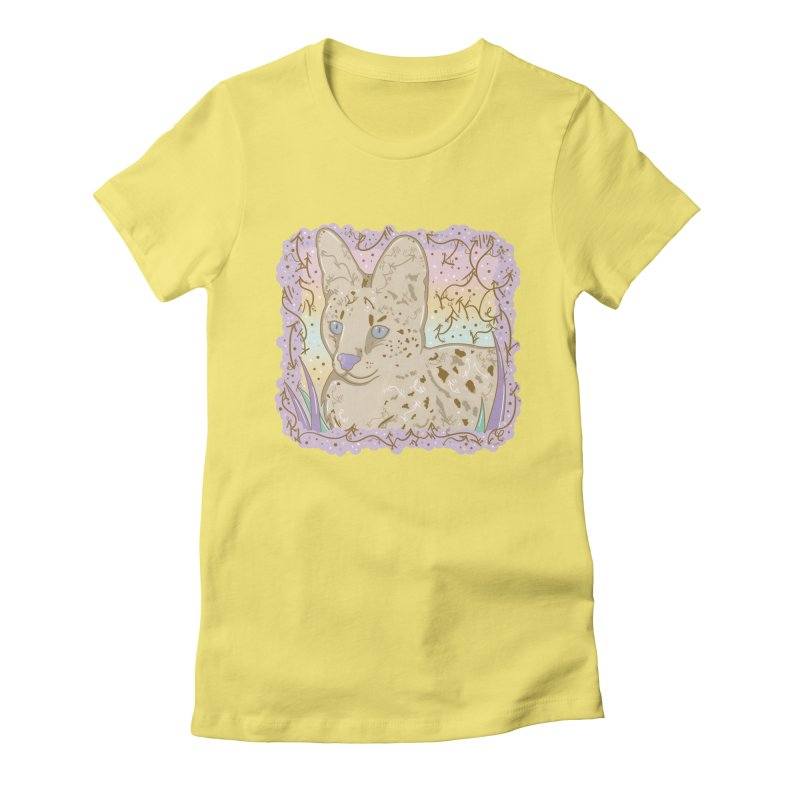 Little Serval Women's Fitted T-Shirt by VanillaKirsty's Artist Shop