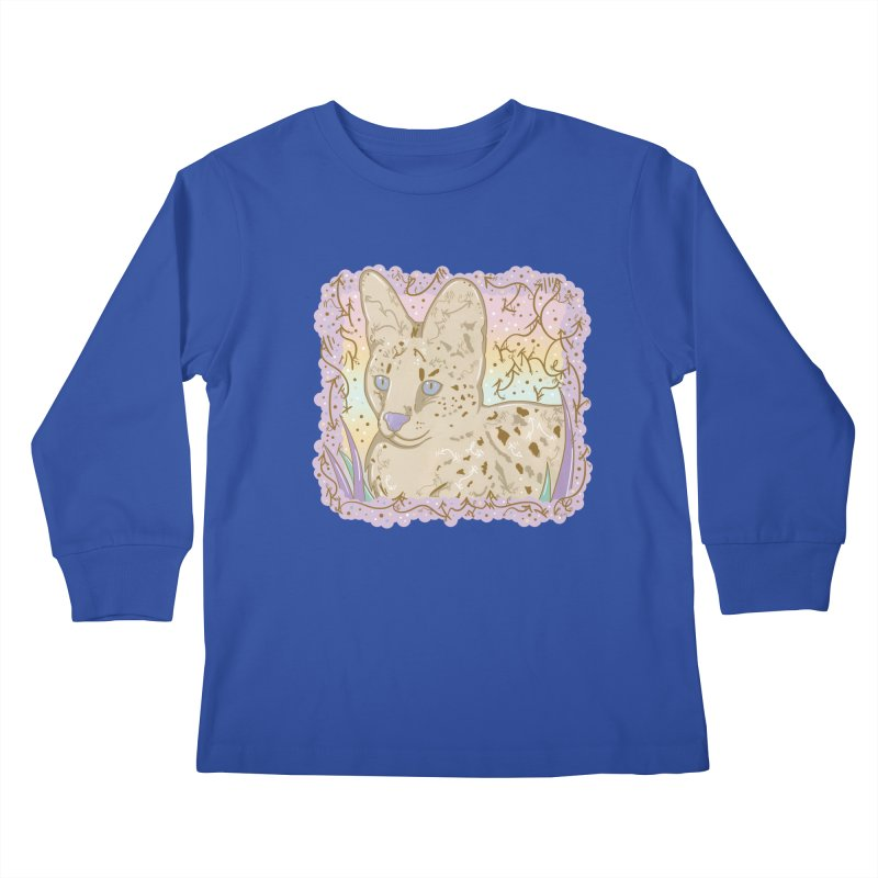 Little Serval Kids Longsleeve T-Shirt by VanillaKirsty's Artist Shop