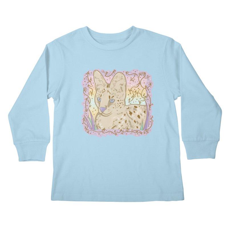 Little Serval Kids Longsleeve T-Shirt by VanillaKirsty's Artist Shop