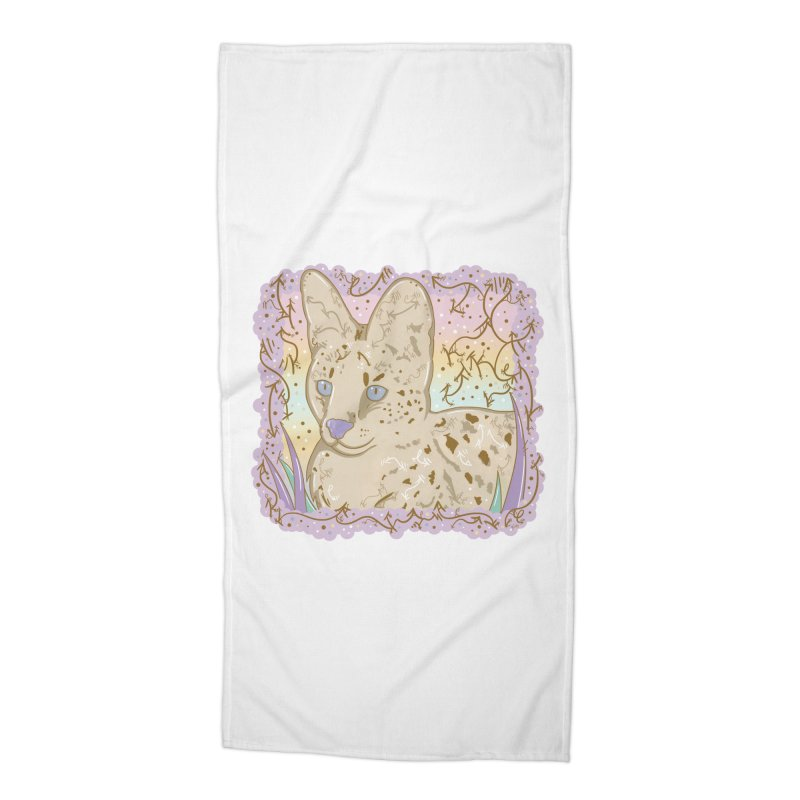 Little Serval Accessories Beach Towel by VanillaKirsty's Artist Shop