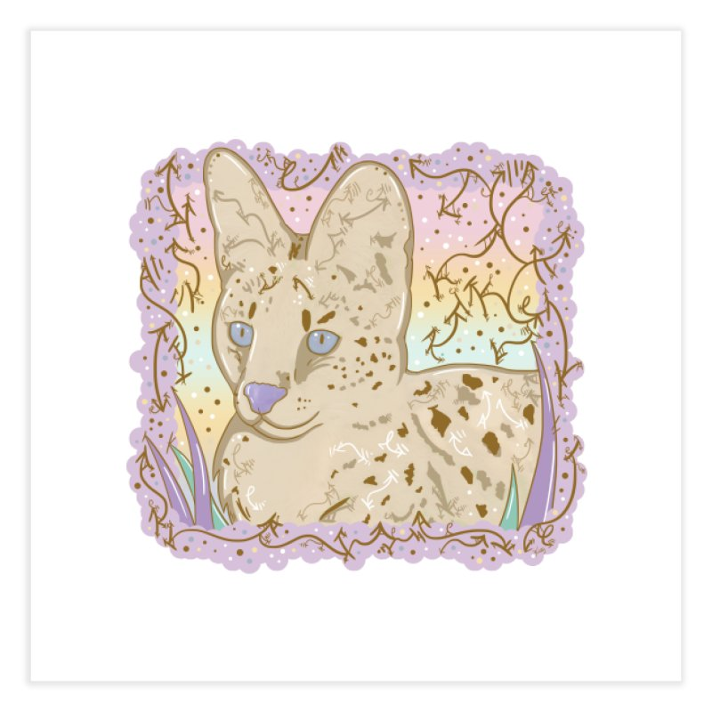 Little Serval Home Fine Art Print by VanillaKirsty's Artist Shop