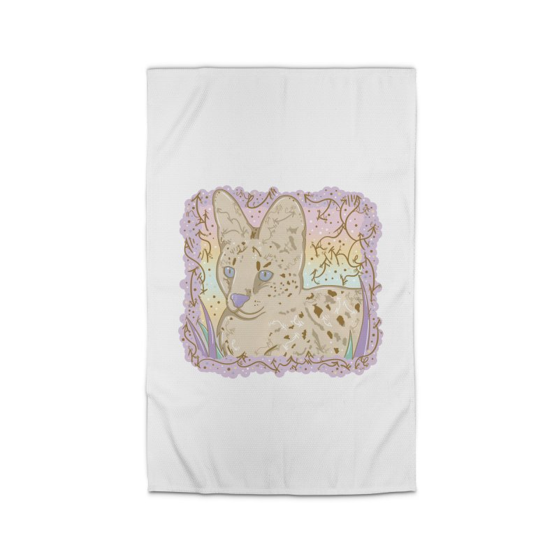 Little Serval Home Rug by VanillaKirsty's Artist Shop