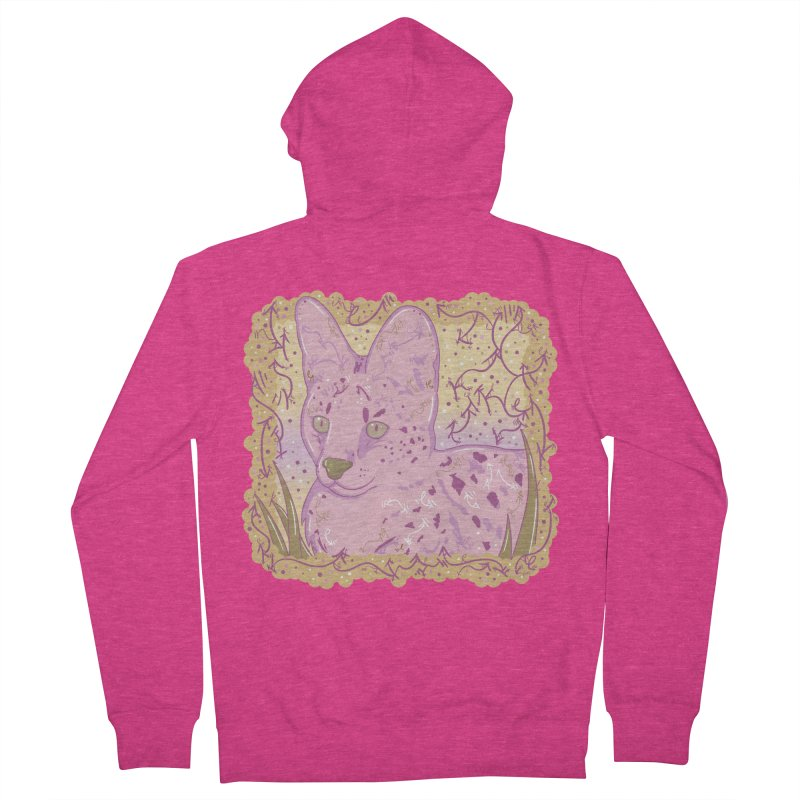 Little Serval (Gold and Pink) Women's Zip-Up Hoody by VanillaKirsty's Artist Shop