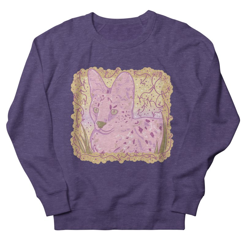 Little Serval (Gold and Pink) Women's Sweatshirt by VanillaKirsty's Artist Shop
