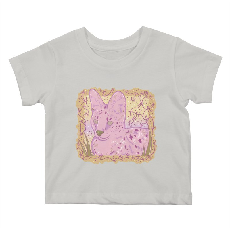 Little Serval (Gold and Pink) Kids Baby T-Shirt by VanillaKirsty's Artist Shop