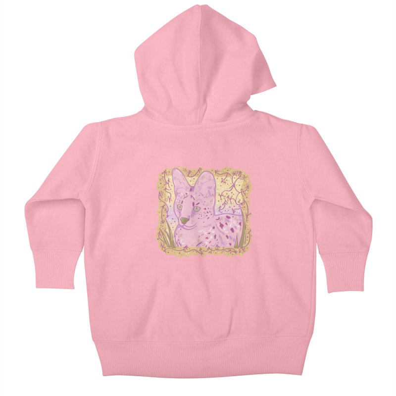 Little Serval (Gold and Pink) Kids Baby Zip-Up Hoody by VanillaKirsty's Artist Shop