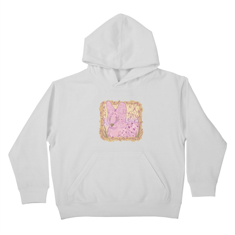 Little Serval (Gold and Pink) Kids Pullover Hoody by VanillaKirsty's Artist Shop