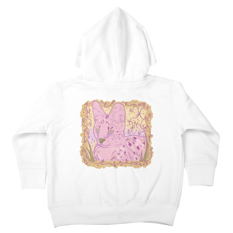 Little Serval (Gold and Pink) Kids Toddler Zip-Up Hoody by VanillaKirsty's Artist Shop