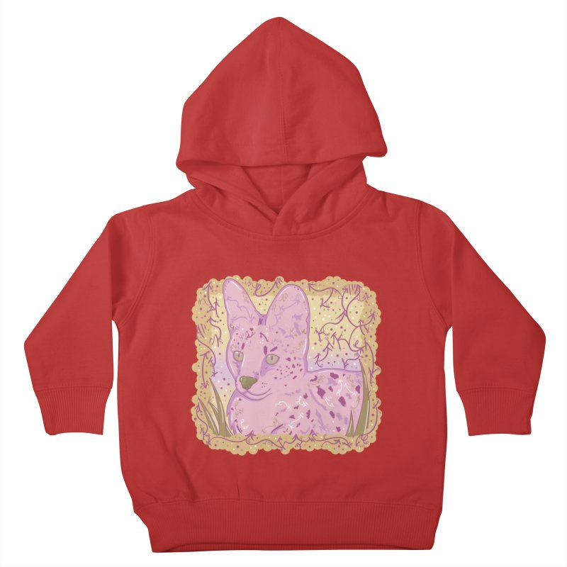 Little Serval (Gold and Pink) Kids Toddler Pullover Hoody by VanillaKirsty's Artist Shop