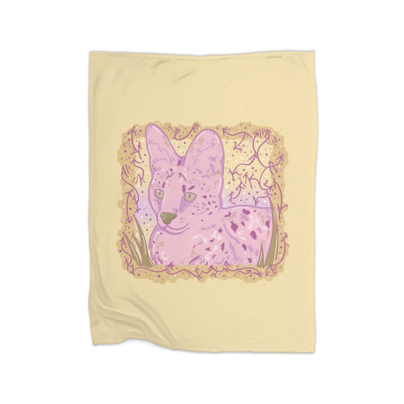 Little Serval (Gold and Pink) Home Blanket by VanillaKirsty's Artist Shop