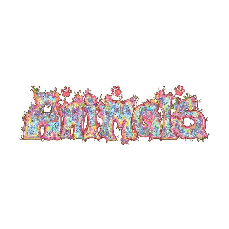 Kaleidoscopic Animals (Text) by VanillaKirsty's Artist Shop