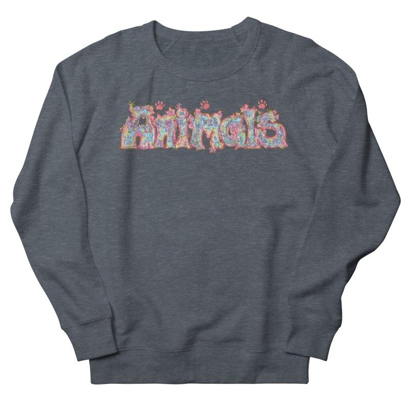 Kaleidoscopic Animals (Text) Women's Sweatshirt by VanillaKirsty's Artist Shop
